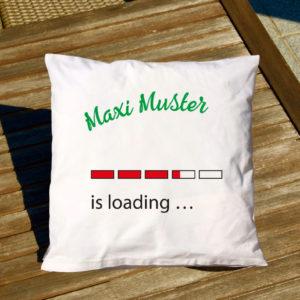 bedrucktes Kissen, Druck, eigener Name, Geschenkidee, individuelles Kissen mit Aufdruck, Max Mustermann, Maxi Muster, is loading …, lustiges Kissen